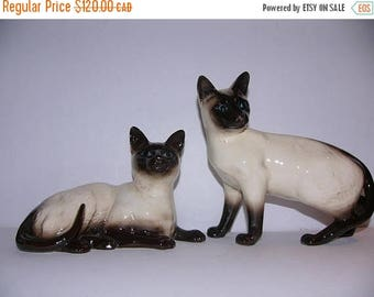 ON SALE Vintage Pair of Beswick Cats