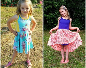 Boardwalk Dress PDF pattern and Tutorial - NB-12yrs - girl - by LittleKiwisCloset