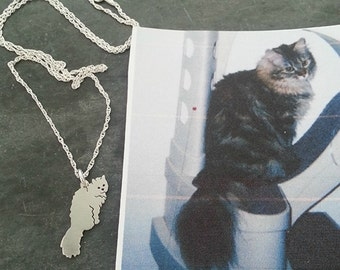 Custom Cat Necklace, Your Pet TaGette Pendant, Sterling Silver Cat silhouette Memory Jewelry Keepsake Memorial Gift