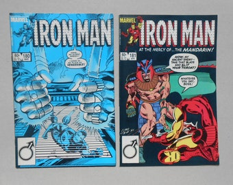 Iron Man #180 ; #181; Mandarin; Iron Man Vs Mandarin; comic lot 2; Rhodes Iron Man Vs the Mandarin; Tony Stark Alcoholic; High Grade!
