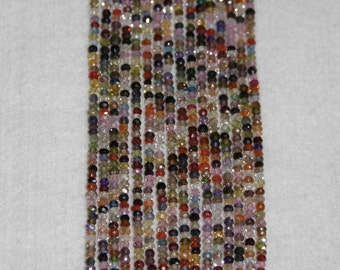 Zircon, Multicolor Zircon, Faceted Bead, Semi Precious, Sparkle, Spacer,  Strand 3mm