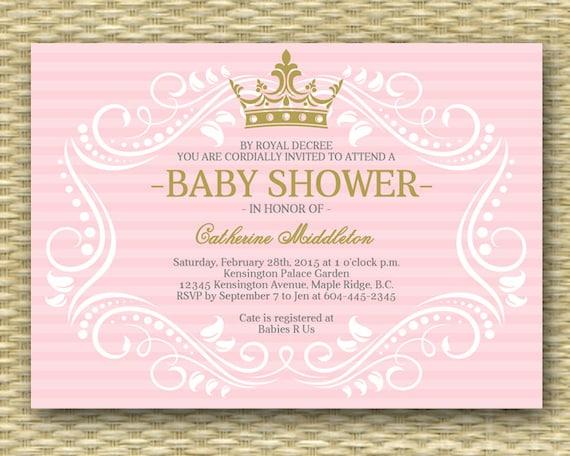 Royal princess baby shower invitation little princess baby like this item filmwisefo Choice Image