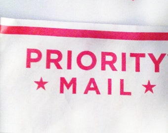 Priority Mail- Tracking and Insurance included