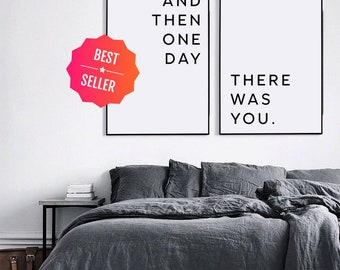 Top Selling Love Print, And then one day there was you, Love quote print, Gift for Him, Boyfriend Gift, Love printable, Gift for husband