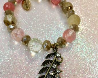Brown & Peach Bracelet