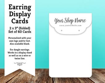 Earring Cards | Custom Earring Display Cards | Jewelry Cards | Top Fold | SH044 01