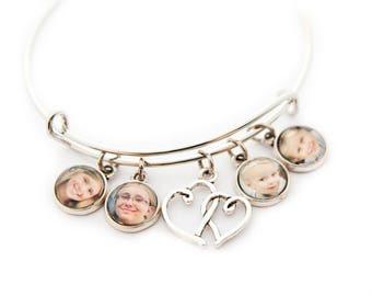 Photo Charm Bracelet / Custom Photo Bracelet / Photo Bracelet/ Picture Bracelet / Picture Charm Bracelet / Picture Jewelry / Mother Gift