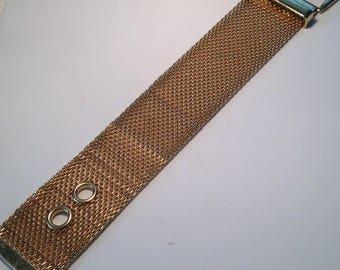 Vintage Goldtone Mesh Buckle Bracelet