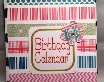12 Month Perpetual Birthday Calendar Keeper