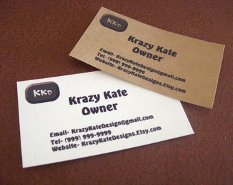 Business Cards, Printed Business Card, Set of 50, DIY Business Card, Logo Card, Thank You Card