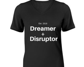 Dreamer+Disruptor V-Neck T-Shirt