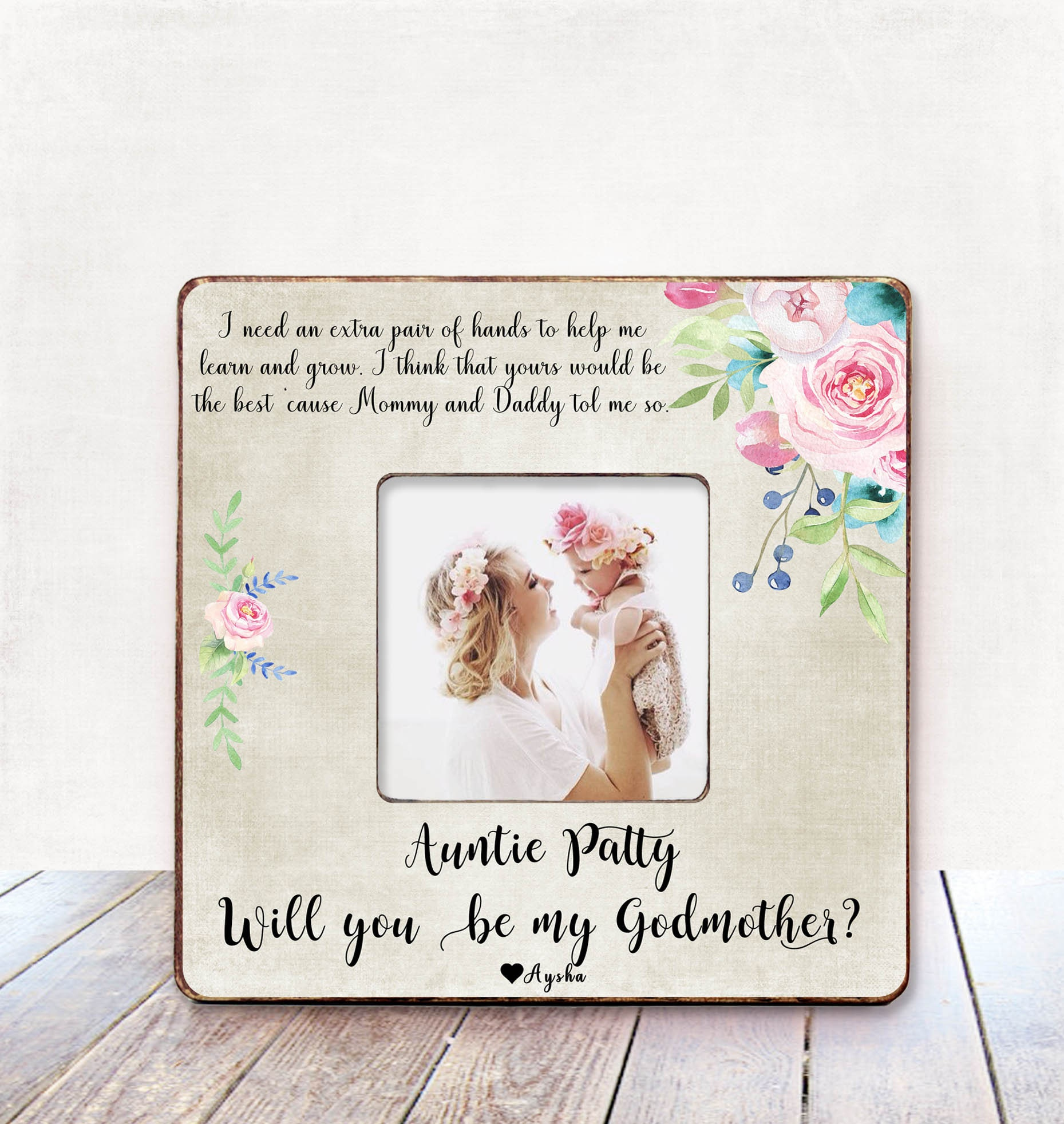 Will you be my godmother? Godmother gift Personalized picture frame ...