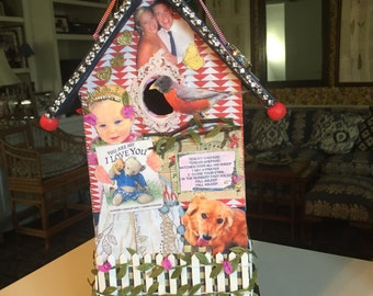 Personalized Birdhouse NightLight for someone you dearly love.. This makes a wonderful keepsake.