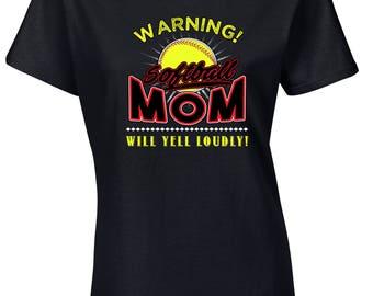 Mothers Day Tshirt, Softball Mom, Softball Mom Voice Shirt, Mom's Gift, Gift For Mom, Mothers Day Gift