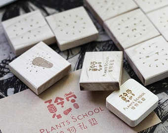 Business card rubber stamp, custom logo stamp, personalized shop stamp