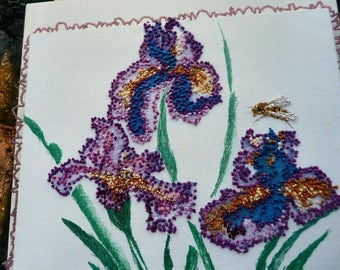 Iris and Friend - Wall art