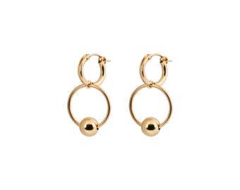 livin' like a rockstar earrings - goldfilled hoop earrings gold earrings gold earring for women goldfill hoops