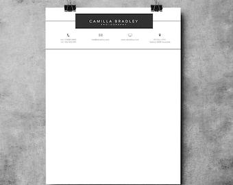 Letterhead Template | Printable Letterhead Design | Microsoft Word Letterhead