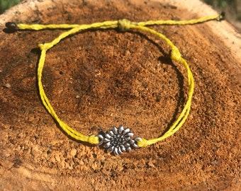 Sunflower Waterproof Charm Bracelet