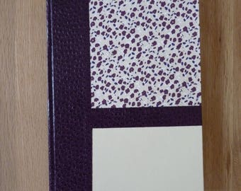 Great book / notebook plum and beige floral