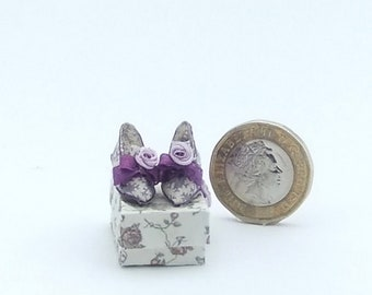 Miniature Dollshouse 1/12 th Scale Shoes and Box