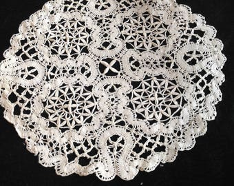 Antique handmade lace large doilies...eight of them