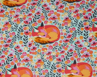 Fox Nap in Sorbet - CHIPPER by Tula Pink for Free Spirit Fabrics - By the Yard