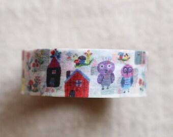 bird Washi Masking Tape | Animal Washi Masking Tape | Decorative Tape - 15mm x 10m - 6171