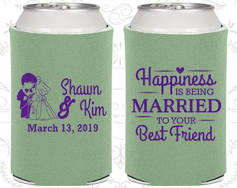 Sage Wedding, Sage Can Coolers, Sage Wedding Favors, Sage Wedding Gift, Sage Wedding Decor (515)