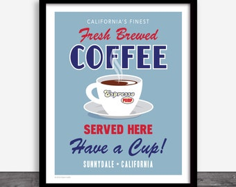 Expresso Pump Coffee Ad - Buffy The Vampire Slayer Art Print Poster