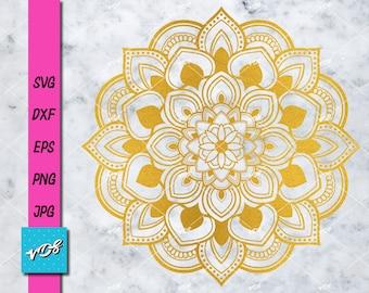 Mandala SVG - Mandala Printable - Mandala clip art - Mandala Cricut File - Laser Cutting-Mandala monogram digital download-