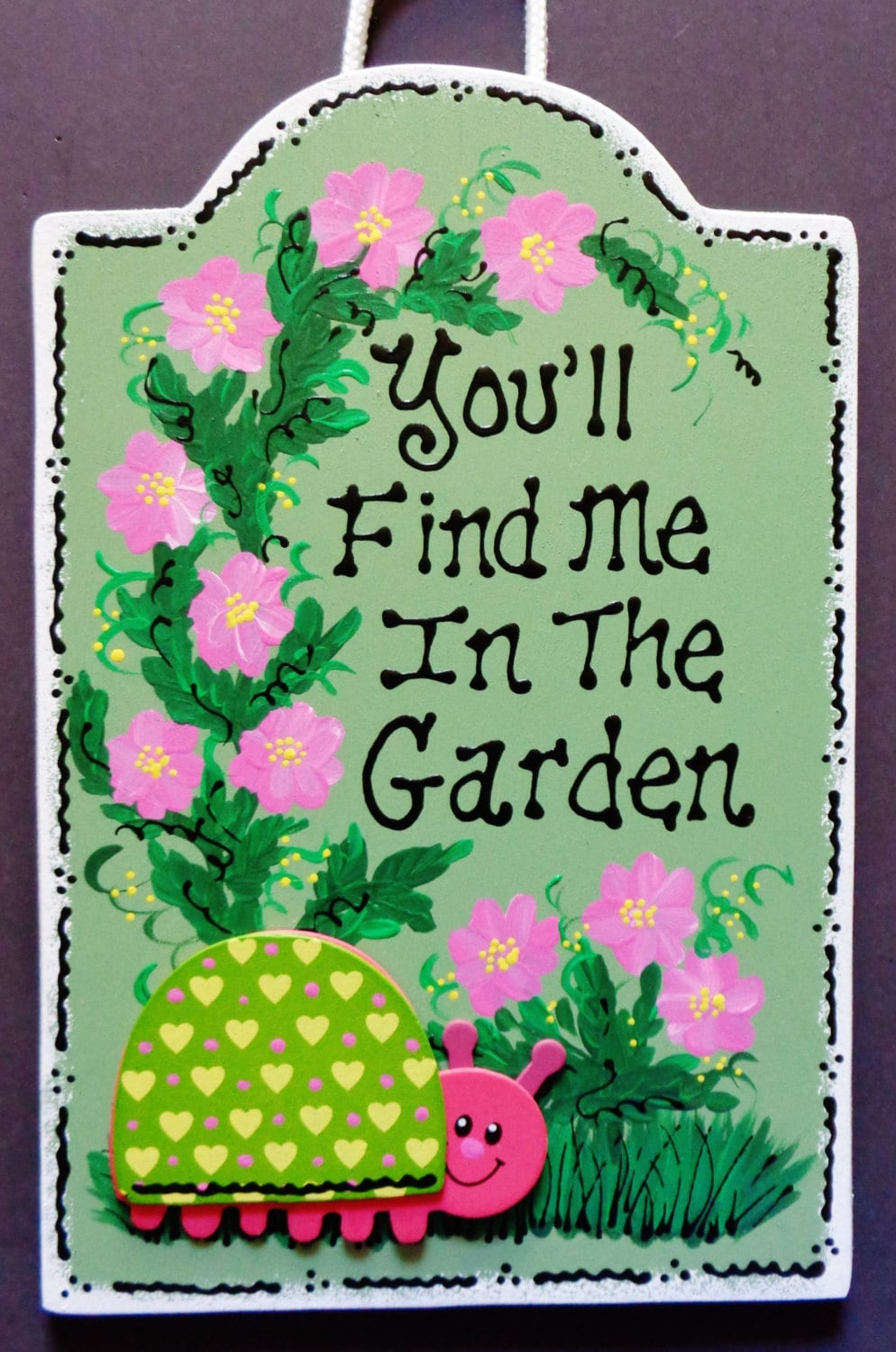 WHIMSICAL LADYBUG You\'ll Find Me In The Garden SIGN Wall