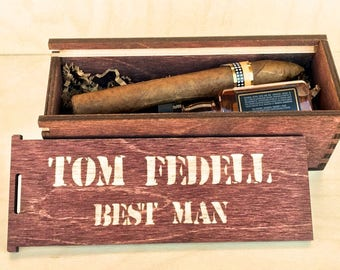 Groomsmen Proposal,  Groomsman Gift Box,  Groomsman Box, Father of The Bride, Unique Groomsmen Gift,  Cigar Box, Man Gift, Be My Best Man