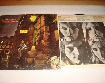 Rare 1972 David Bowie The Rise & Fall Of Ziggy Stardust Vinyl Album With Insert