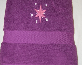 My Little Pony Twilight Sparkle Embroidered Towel