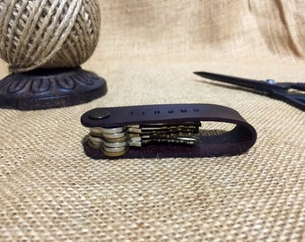Leather Keyring, Australian, Hand Made, Personalised Keychain by Australian Leather Co.