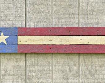 Rustic reclaimed barn wood American flag wall art