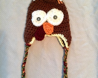Turkey Hat with Ear Flaps