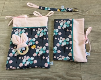 Japanese cherry blossoms collection baby accessories
