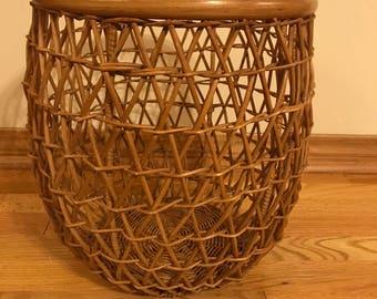 Wicker & Rattan Open Weave Basket