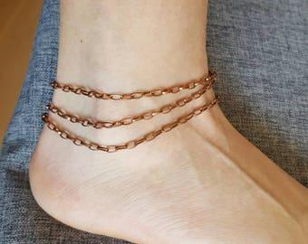 Ankle bracelet multiple chains # 25