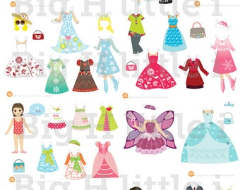 Printable paper dolls / Digital paper dolls / Paper doll party / Family and Friends dolls / Instant Download