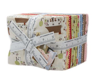 Cottontail Cottage Fat Quarter Bundle - Moda Fabric - Moda Collection Bunny Hill Designs Quilt Fabric - Fat Quarter Set of 30 Fabrics