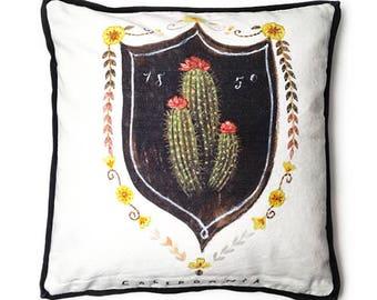 Barrel Cactus Pillow, Cactus Pillow, Cactus Home Decor, Barrel Cactus Illustration, Cactus Throw Pillow