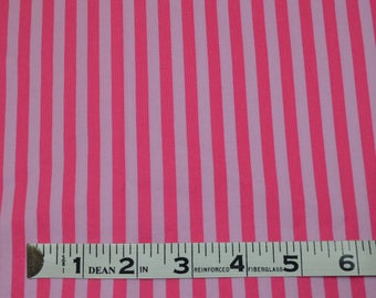 Item 239, 100% Cotton Fabric, Michael Miller Design,  Pink Stripe,  1 3/8 Yard
