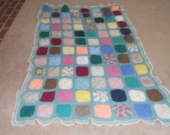 Solid Block Granny Square Afghan
