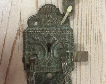 Surface Mount Latch, 2 Piece, Beautiful Patina from age