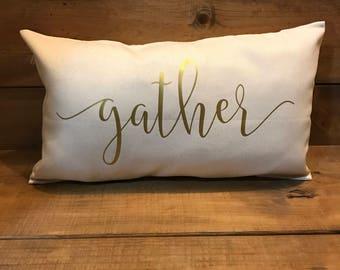 Gather pillow