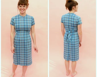 1950s Stacy Ames Checkered Fringed Dress