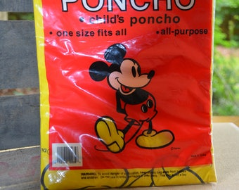 Mickey Mouse Child's Poncho- Unopened!